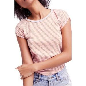 Free People We The Free Clare Stripe Tee Small